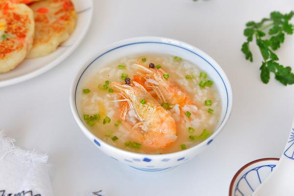快手鲜虾粥的做法