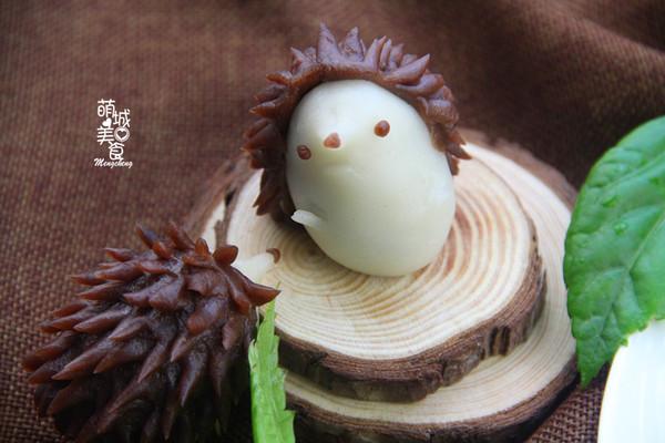 萌翻的小刺猬冰皮月饼