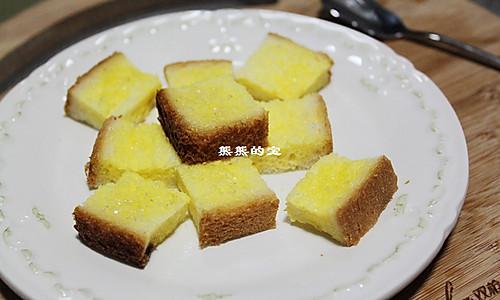 微波版黄油吐司的做法