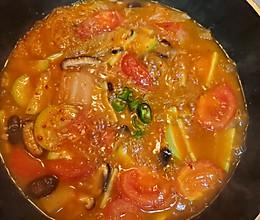 韩国泡菜汤(素)的做法