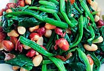 菠菜拌花生的做法