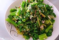 炝白菜苔的做法