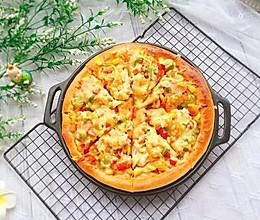 #精品菜谱挑战赛#午餐肉鲜虾彩椒披萨的做法