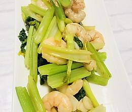 虾仁炒芹菜的做法