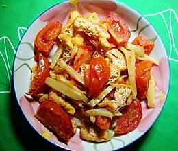 番茄炒豆泡丝的做法