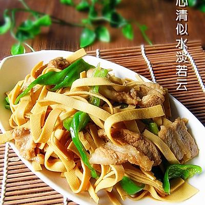 尖椒千张炒肉片