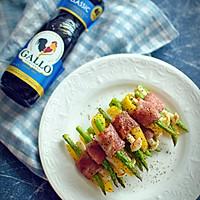 鲜蔬培根卷#Gallo橄露橄榄油#的做法图解9
