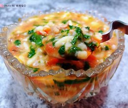 #元宵节美食大赏#西红柿香菇芹菜叶猪肉疙瘩汤的做法