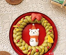 圣诞花环馒头的做法