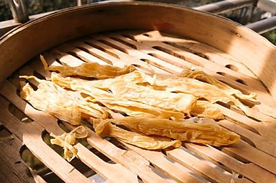 喝不完的豆浆做腐竹