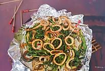 #美食视频挑战赛#香烤韭菜鱿鱼圈的做法