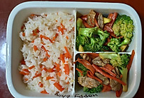 胡萝卜西兰花炒肉的做法