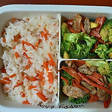 胡萝卜西兰花炒肉