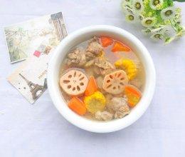 莲藕胡萝卜玉米排骨汤的做法
