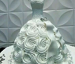 奶油婚纱的做法