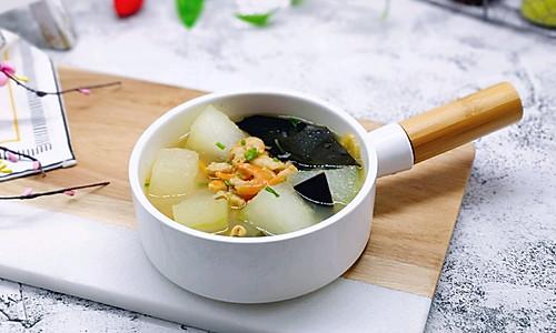 虾干海带冬瓜汤#春季食材大比拼#的做法