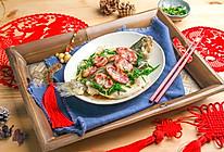 葱香腊肠蒸鲈鱼的做法