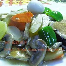 蚝油菌菇炒豆干