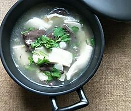 猪血豆腐汤的做法