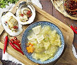 高压锅生蚝炖鱼胶的做法
