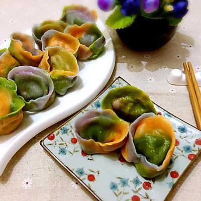 三色元宝饺——冬季暖身