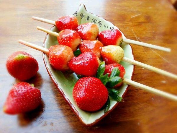 冰糖葫芦草莓串的做法