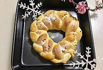 【圣诞花环面包】的做法