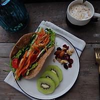 健康减脂早餐—全麦鸡脯肉蔬菜卷饼
