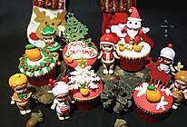 豆果陪你过圣诞—小豆子主题翻糖纸杯蛋糕#圣诞烘趴 为爱起烘的做法