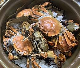 盐焗大闸蟹的做法