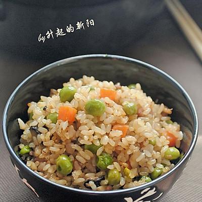 糙米豌豆煲饭