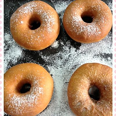 短时(一次发酵)软面包之五: 不需烤箱的甜甜圈(唐纳兹)