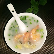 鲜虾蛤蜊粥