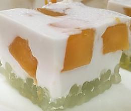 芒果椰汁西米糕的做法