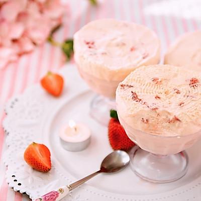 堪比哈根达斯的草莓果肉冰激凌(独创)