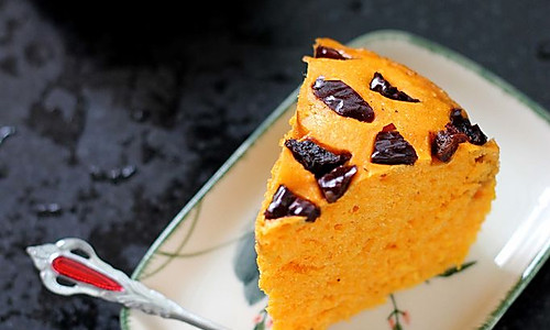 【必学√】南瓜红枣发糕的做法