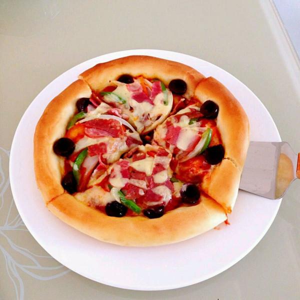至尊披萨 两个的量,自制披萨饼皮+披萨酱 (二)的做法