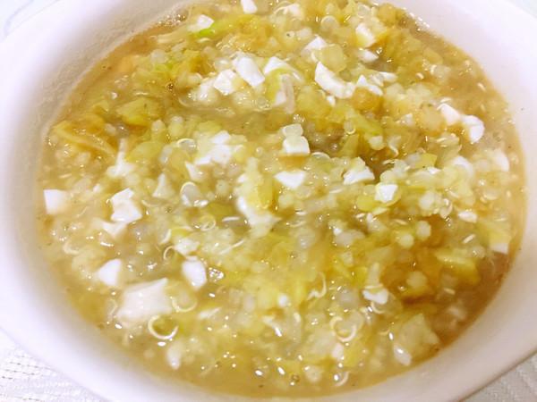 藜麦小米牛骨髓大白菜粥(宝宝辅食)的做法