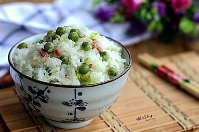 豌豆咸肉焖饭#美的初心电饭煲#