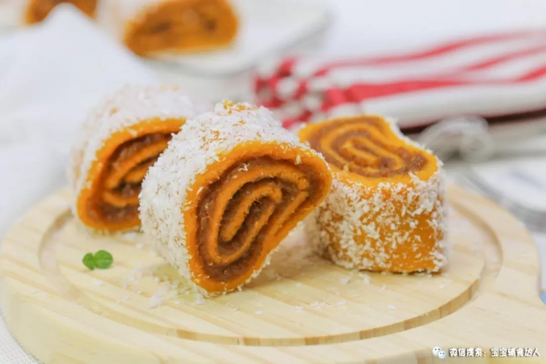 红薯枣泥米糕