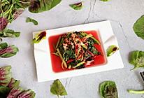 #轻食系王者#蒜蓉红苋菜的做法