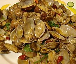 姜葱炒文蛤的做法