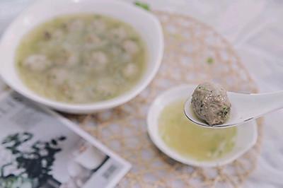 过年爽汤-香菜羊肉丸子萝卜丝汤