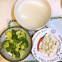 金蒜粉丝蒸西兰花-低脂健康好营养的做法图解1