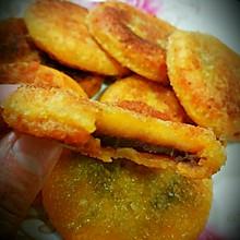 南瓜饼——电饼铛制作脆皮豆沙南瓜饼