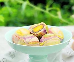 梦幻彩虹蛋黄酥的做法
