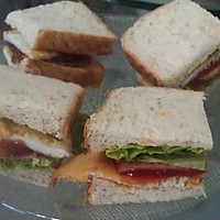 煎蛋火腿三明治(3人份)的做法图解5