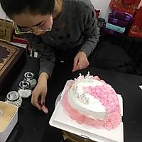 情人节【专属】女王礼服蛋糕裱花的做法图解14
