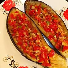 平底锅煎剁椒茄子