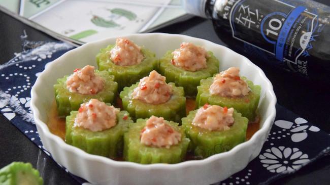 #助力高考营养餐#虾滑酿苦瓜的做法